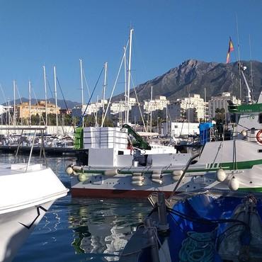 Fiskehamnen i Marbella, Costa del Sol, Spanien