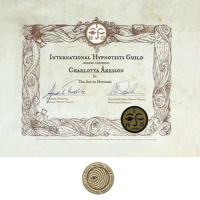 Certifierad hypnotistör – International Hypnotists Guild (2021)