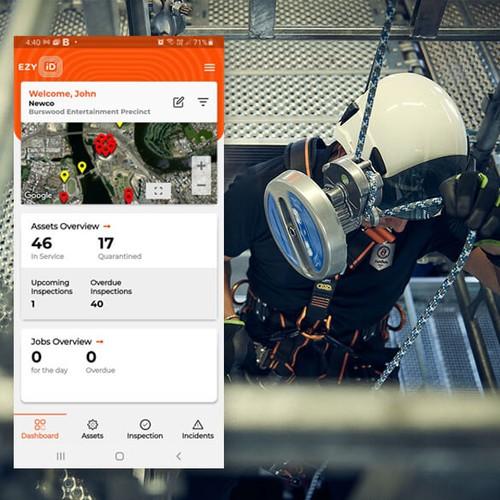 EZY iD – App för fallskyddsprodukter