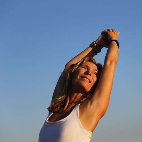 Yoga on the beach in Marbella with Petra Lindros