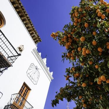 Apelsintorget i Marbella, Costa del Sol, Spanien