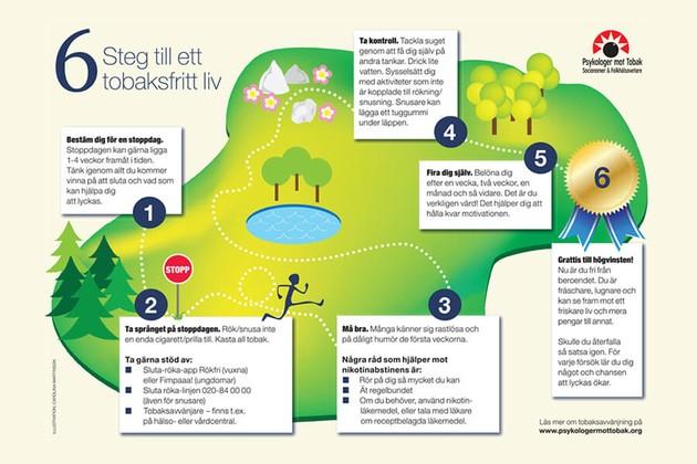 6 steg till ett tobaksfritt liv